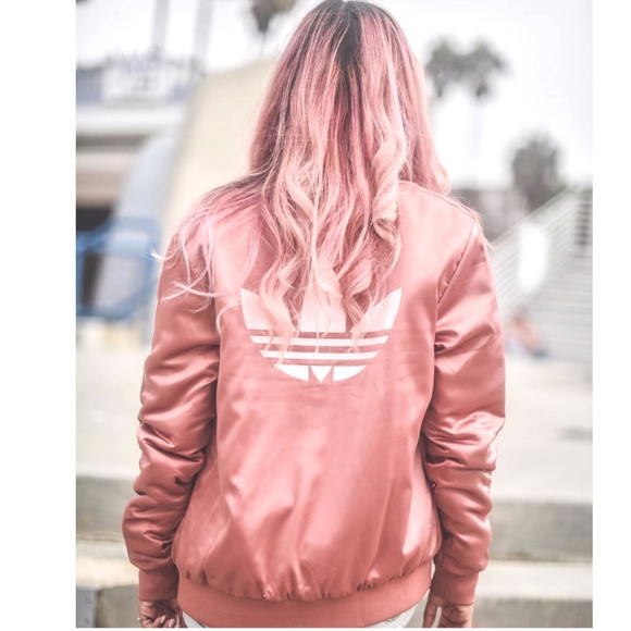ed041855d0c adidas Jackets   Blazers - Rare💖Rose Gold Trefoil Bomber Jacket M